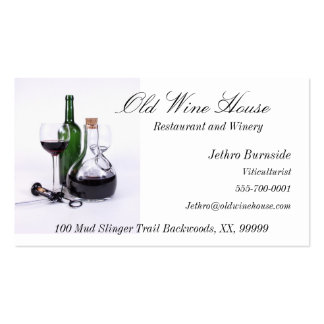 Wine Themed Business Cards