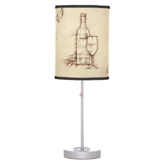 Wine Themed Drawing Table Lamp