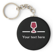 Wine Themed Message Keychains