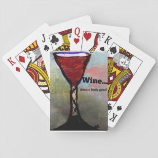 wine themed playing cards