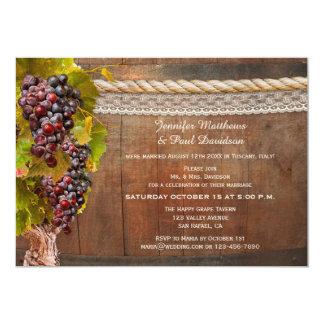 Wine Themed Post Wedding Reception Only Invitation
