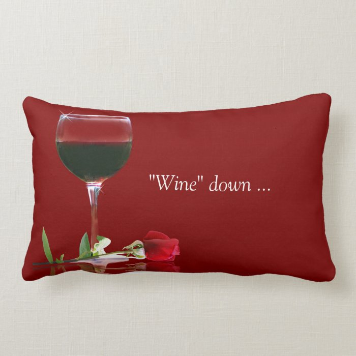 Wine Themed Home Decor: Wine Themed Reverseable Decor Pillow