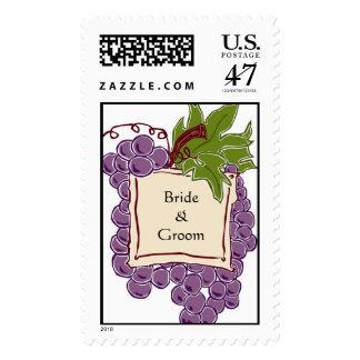 Wine Themed Wedding Postage Stamp