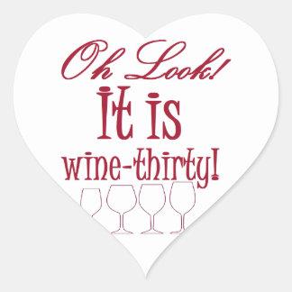 wine-thirty heart stickers