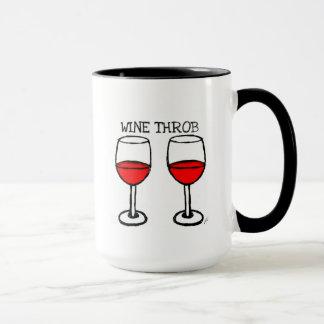 """WINE THROB"" FUN RED WINE PRINT MUG"