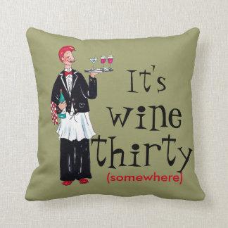 Wine Throw Pillos Throw Pillow