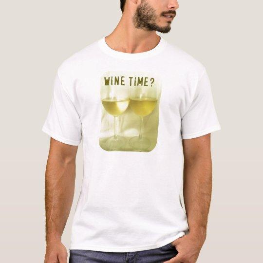 WINE TIME CHARDONNAY PRINT T-Shirt