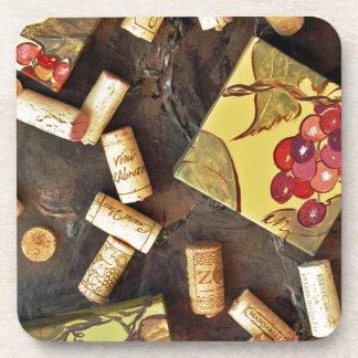 Wine Time Corks Coaster Set