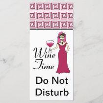 """Wine Time"" Goddess Key Pattern Do Not Disturb"