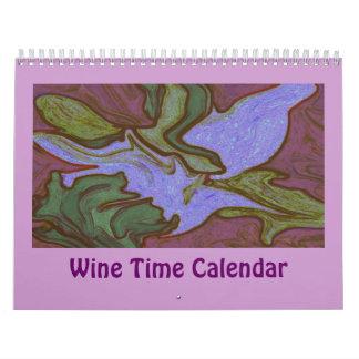 wine time humor wall calendar