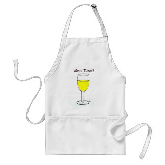 WINE TIME PRINT by jill Adult Apron