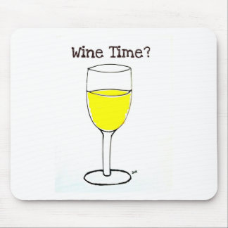 WINE TIME PRINT by jill Mouse Pad