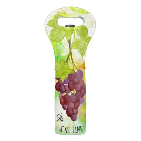 *~* Wine Time Tote Grapes Wine Bottle Wine Bag