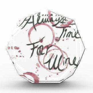 Wine Time Towel Acrylic Award