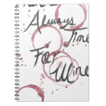 Wine Time Towel Spiral Notebook