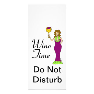 """Wine Time"" WineWomenDesigns.com Promotional Rack Card"