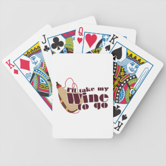 Wine to Go Bicycle Playing Cards
