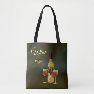 Wine to Go Cute Classic Art Tote Bag
