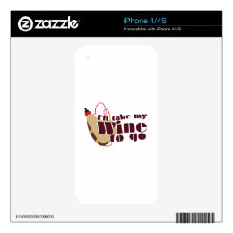 Wine to Go Skin For iPhone 4S
