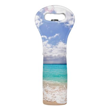 Beach Themed Wine Tote with Beach Design