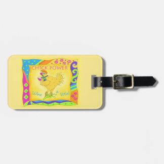 Wine un amarillo banal del pequeño poder del etiquetas para equipaje