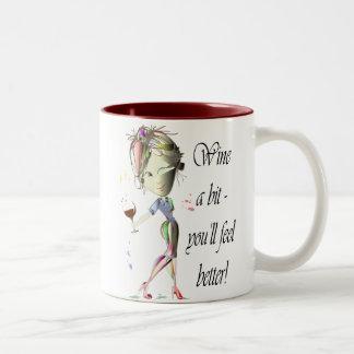 ¡Wine un ~ del pedazo que usted sentirá mejor! Tazas De Café