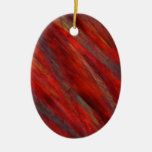 Wine under the microscope - Cabernet Sauvignon Double-Sided Oval Ceramic Christmas Ornament
