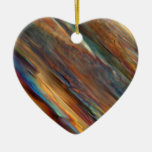 Wine under the microscope - Pinot blanc Double-Sided Heart Ceramic Christmas Ornament