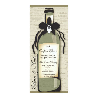 Wine Varietal and Whimsical Bottle Invitation