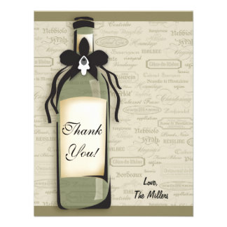 Wine Varietal and Whimsical Bottle Note Card Announcement
