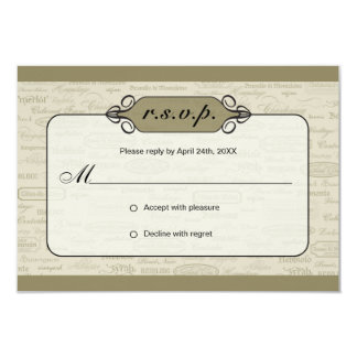 Wine Varietal and Whimsical Bottle RSVP Card 2