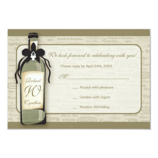 Wine Varietal and Whimsical Bottle RSVP Card Invitation