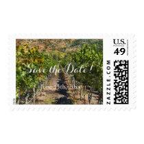 Wine Vineyard or Winery Wedding Save the Date Postage
