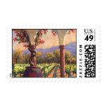 Wine Vineyard postage stamp