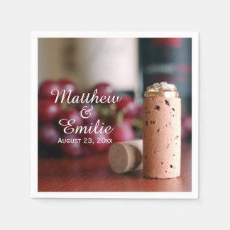 Wine Vineyard Wedding Engagement Napkins Standard Cocktail Napkin