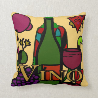 Wine, Vino Abstract Throw Pillow