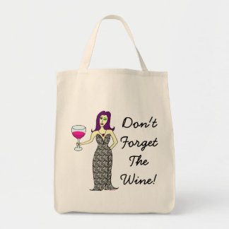 Wine Vixen Don't Forget The Wine! Shopping Bag