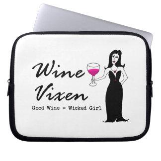 "Wine Vixen ""Good Wine = Wicked Girl"" Laptop Sleeve"