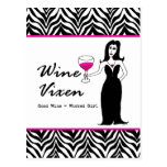 "Wine Vixen ""Good Wine = Wicked Girl"" Postcard"