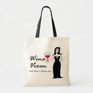 "Wine Vixen ""Good Wine = Wicked Girl"" Shopping Bag"