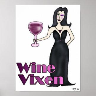 Wine Vixen Poster
