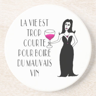 Wine Vixen Simply Wicked French Saying Drink Coaster