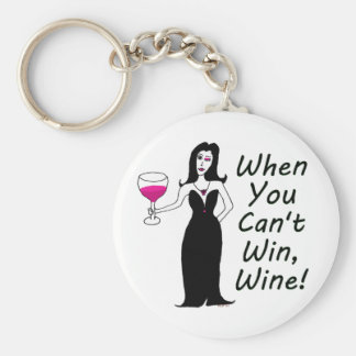 Wine Vixen Simply Wicked When You Can't Win, Wine Keychain