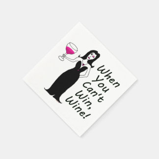 Wine Vixen Simply Wicked When You Can't Win, Wine Paper Napkin