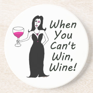Wine Vixen Simply Wicked When You Can't Win, Wine Sandstone Coaster
