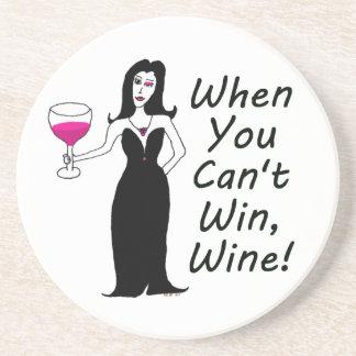 Wine Vixen Simply Wicked When You Can't Win, Wine Sandstone Coaster