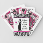 Wine Vixen When You Can't Win, Wine Bicycle Playing Cards