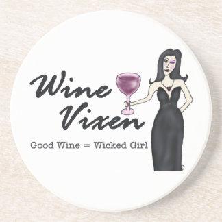 """Wine Vixen """"Wicked Girl"""" Beverage Coasters"""