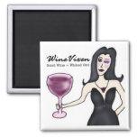 """Wine Vixen """"Wicked Girl"""" Magnet"""