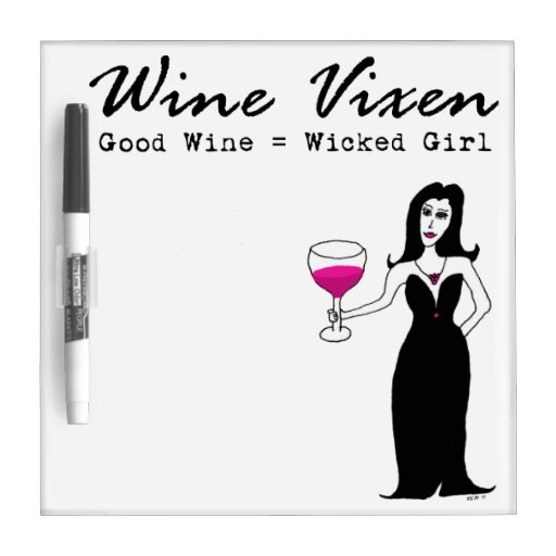 "Wine Vixen ""Wicked Girl"" Small Dry-Erase Whiteboard"